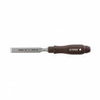 Длето плоско NAREX PLAST LINE PROFI 12мм, с пластмасова дръжка, Cr-Mn