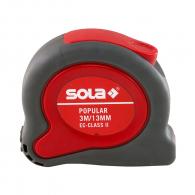 Ролетка пласмасов корпус SOLA POPULAR 3м x 13мм, гумирана, EC-клас 2