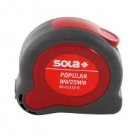 Ролетка пласмасов корпус SOLA POPULAR 8м х25мм, гумирана, EC-клас 2