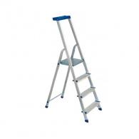Алуминиевa стълба ELKOP JHR404 3+1, 775мм(на стълбата), едностранна, за домашна употреба, 150кг.