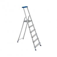 Алуминиевa стълба ELKOP JHR506 5+1, 1205мм(на стълбата), едностранна, за домашна употребаа, 150кг.