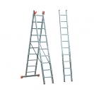 Алуминиевa стълба KRAUSE Tribilo 3х10, 2850/4700/6900мм, трираменна, професионална, 150кг. - small