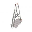 Алуминиевa стълба KRAUSE Tribilo 3х10, 2850/4700/6900мм, трираменна, професионална, 150кг. - small, 101936
