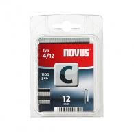 Кламери NOVUS 4/12мм 1100бр., тип 4/C, с тесен гръб, блистер