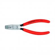 Клещи кербовъчни KNIPEX 0.25-2.5мм2, за изолирани кабелни накрайници, AWG 20-13, еднокомпонентни дръжки