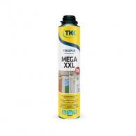 Полиуретанова пяна TKK Tekapur Mega XXL, 840мл, пистолетна, всесезонна (над -5°C)