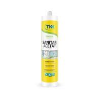 Силикон санитарен ацетат TKK Tekasil Sanitar Acetat, 280мл, бял