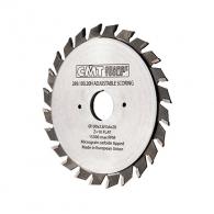 Диск подрезвач с твърдосплавни пластини CMT 125/2.8-3.6/20 Z=12+12, за рязане на единична или двустранни ламинирани плоскости