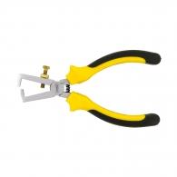 Клещи за заголване на кабели TOPMASTER 0.5-10кв.мм/175мм, регулиращ винт, CrV, двукомпонентна дръжка