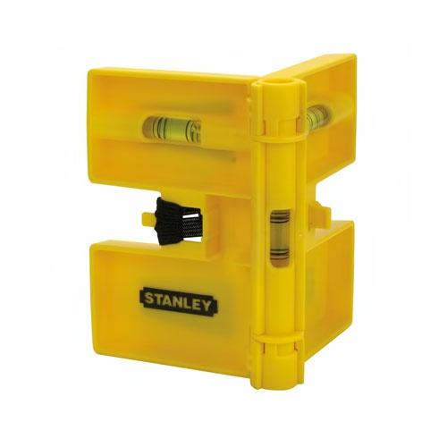 Пластмасов нивелир STANLEY, за центриране на колони, с три либели, магнитен