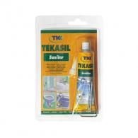 Силикон санитарен ацетат TKK Tekasil Sanitar Acetat Profi 60мл, прозрачен