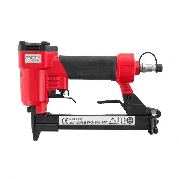 Такер пневматичен RAIDER RD-AS01, за скоби 6-16мм (12.8х1.0мм)