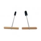 Четки за почистване на отвори FISCHER FIS ф8/16мм, за бетон, стомана, с дървена дръжка, 2бр. комплект  - small, 36199