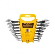 Ключ комплект гаечен TOPMASTER Fully Polished 6-32мм 12части, CrV, хромирани, полирани