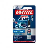 Универсално секундно лепило LOCTITE Super Attak Universal, 3гр, водоустойчиво