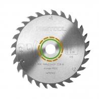 Диск с твърдосплавни пластини FESTOOL 160/2.2/20 Z=28, за рязане на мека и твърда дървесина, дървесни плоскости