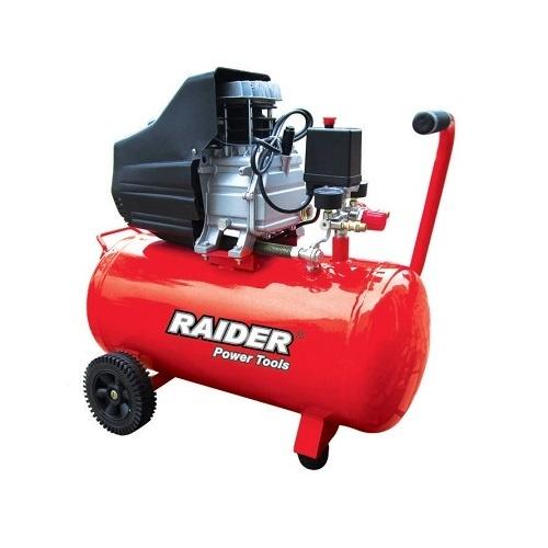 Компресор RAIDER RD-AC02, 50l, 8bar, 195 l/min, 1.5kW, 2.0hp, 230V