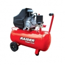 Компресор RAIDER RD-AC02, 50l, 8bar, 195 l/min, 1.5kW, 2.0hp, 230V - small