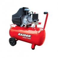 Компресор RAIDER RD-AC02, 50l, 8bar, 195 l/min, 1.5kW, 2.0hp, 230V