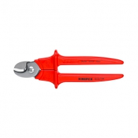 Ножица за кабели KNIPEX 230мм, ф16мм, еднокомпонентна дръжка, изолирани 1000V
