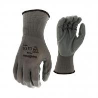 Ръкавици TOPSTRONG, сиви, от безшевно полиестерно трико, топени в нитрил, ластичен маншет