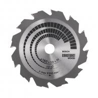 Диск с твърдосплавни пластини BOSCH CONSTRUCT WOOD 160/2.6/20 Z=12, за дървесина
