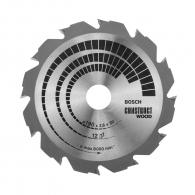 Диск с твърдосплавни пластини BOSCH CONSTRUCT WOOD 190/2.6/30 Z=12, за дървесина