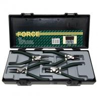 Клещи зегер FORCE 19-60/180мм комплект 4 бр., за отвор и вал, прави и извити 90°
