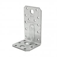 Планка монтажен ъгъл DOMAX KP 3 50х55x90х2.5мм, усилена, поцинкована, 20бр. в опаковка