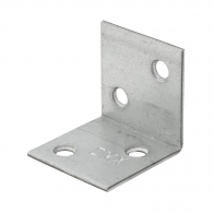 Планкa монтажен ъгъл DOMAX KSO 1 30х30х30x1.5мм, широка, поцинкована, 50бр. в опаковка