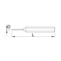 Пробой цилиндричен UNIOR 5х150мм, боядисан, закален, DIN6450, CrV
