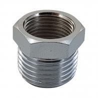Адаптор RAIDER 1/2''външна резба - 3/8''вътрешна резба, стомана с никелирано покритие