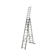Алуминиевa стълба KRAUSE СORDA 3х11, 4050/5350/7250мм, трираменна, професионална, 150кг.