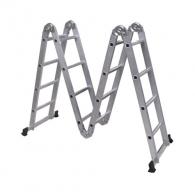 Алуминиевa стълба SHANGHAI EAST BEST C4х4, 2520/3100/5100мм, многофукционална, сгъваема, 150кг.