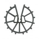 Фиксатор NIDEX Omega 30/4-12, кръгъл пластмасов за вертикална армировка - small, 132733