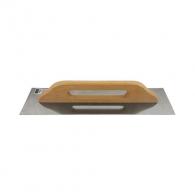 Маламашка за мазилка HARDY 480х130мм, права, неръждаема стомана, дървена дръжка