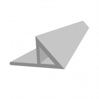 Профил за скосен ъгъл с приковаваща основа NIDEX Т2/15, 2.5м, 15х21х30мм, в опаковка 100м