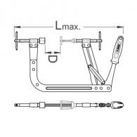 Скоба за клапани UNIOR 20-250мм, дължина 430мм
