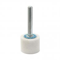 Абразивен шлайфгрифер SWATYCOMET 25х20х6мм, форма OА-плосък цилиндър, цвят бял, 22А