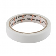Двойнозалепваща лента MAGUS 19мм/1.5м, бяла, полиуретанова, за вътрешно приложение