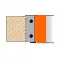 Нож профилен вълнообразен CMT за глава, 49.6x12x1.5, к-кт