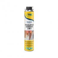Полиуретанова пяна за лепене на изолация TKK Tekapur Insulation Adhesive 2 in 1, 800мл, 2 в 1 (пистолетна и ръчна)