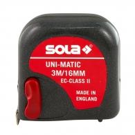 Ролетка пласмасов корпус SOLA Uni-Matic 3м x 16мм, гумирана