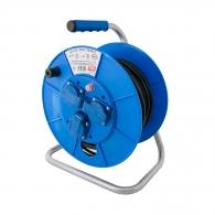 Удължител на макара TAYG Safety 25м, 3х1.5, H05VV-F, 3 монофазни контакта, IP55
