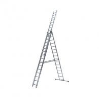 Алуминиевa стълба ELKOP VHR P 3х16, 4310/7430/9789мм(на стълбата), трираменна, професионална, 150кг.