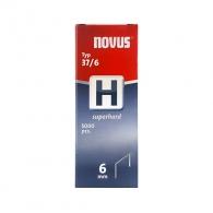 Кламери NOVUS Superhard 37/6мм 5000бр., тип 37/H, тънка супер твърда тел, кутия