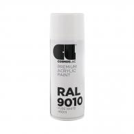 Спрей маркиращ COSMOS LAC, бял, №300, RAL 9010, гланц, 400мл