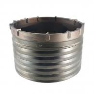 Боркорона с твърдосплавни пластини DREBO 125х100/80мм, за бетон и зидария, с вътрешна резба (система Versio), сухо пробиване