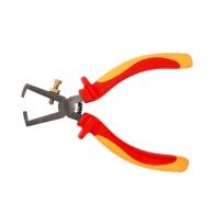 Клещи за заголване на кабели TOPMASTER 0.5-10кв.мм/170мм, регулиращ винт, CrV, двукомпонентна дръжка, 1000V