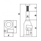 Крик хидравличен TONGRUN T90504 5т, 216-413мм - small, 118339